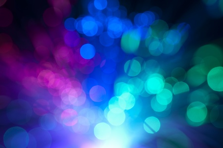 Blurry background with optical fibers photo