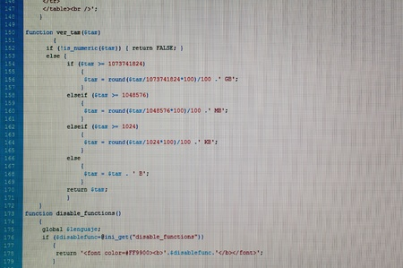 Php code web programming