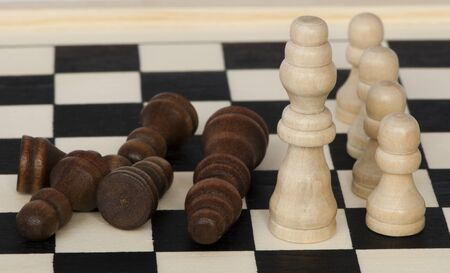 Concept of battle and victory with chess figures Stock Photo - 12025511