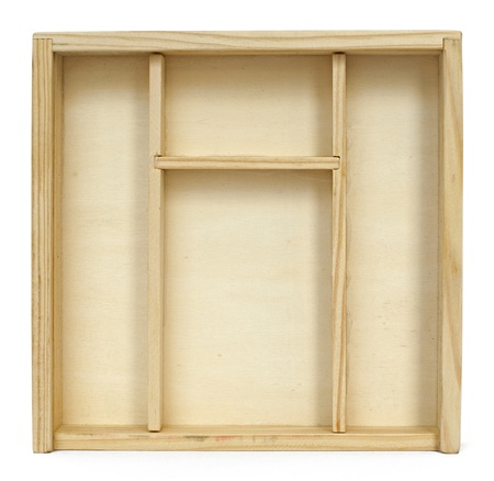Empty wooden box background photo