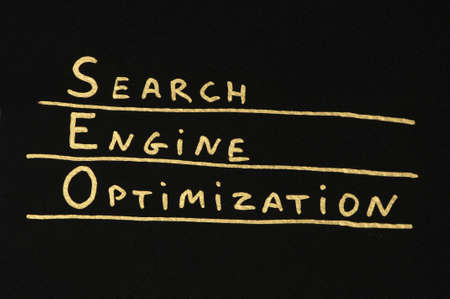 search engine optimized: SEO Optimization conception text