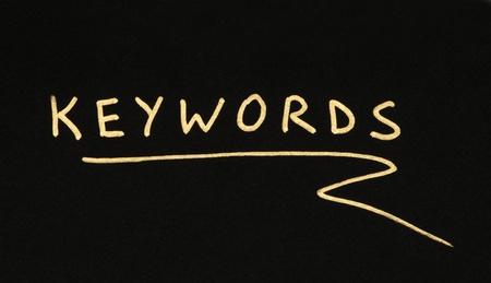 keywords: Keywords white text conception over black