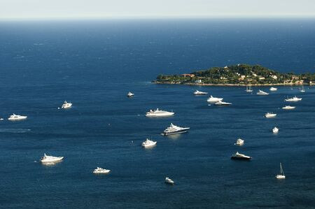 Bay of Monaco and Monte Carlo.Yachts and Ships photo