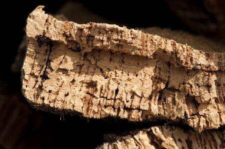 cork sheet: Cork crust. Natural piece of wood