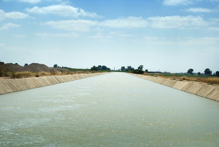 Irrigation canal, watering systems . photo