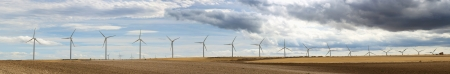 Wind generators panoramic image. photo