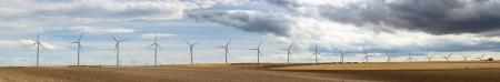 Wind generators panoramic image. photo
