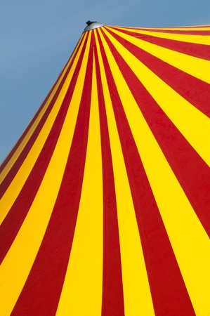 Red and yellow circus dome photo