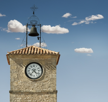 Antique clock on a building photo