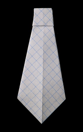 origimi: Isolated tie folded origami style Stock Photo