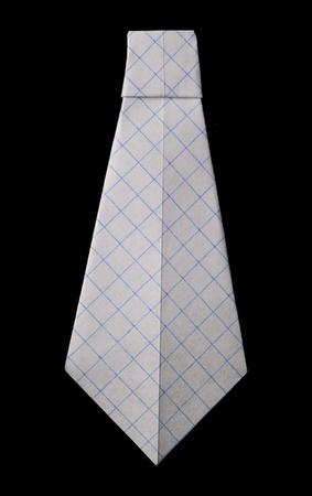 Isolated tie folded origami style Stock Photo - 15886781
