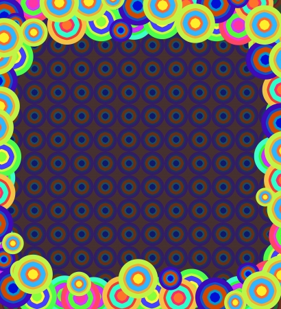 Vintage colorful circles background. Style 70s and 80s Stock Photo - 15977684