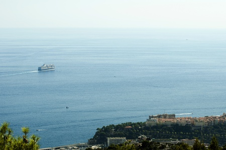 oceanographic: Oceanographic museum of Monaco and cruise ship
