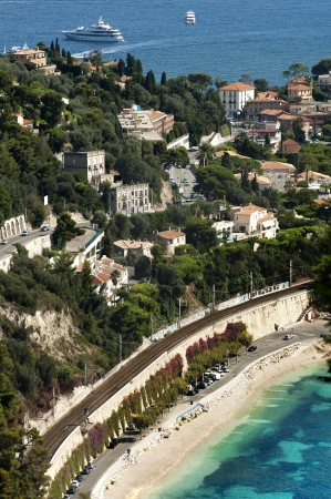 French riviera view from high. photo