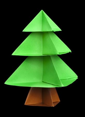 Елка из бумаги. Оригами