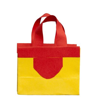 Yellow and red shopping bag Stock Photo - 16317745