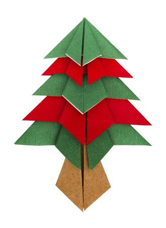Christmas tree made of paper. Origami evergreen tree Stock Photo - 16317751