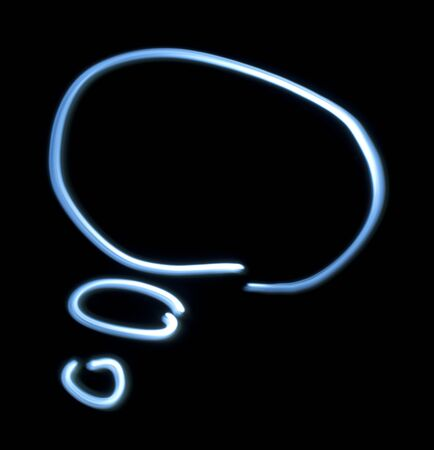 Thinking symbol from natural neon light. Stock Photo - 16513955