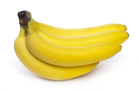 Bunch of bananas white isolated. Studio shot photo