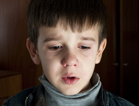 Face of crying little boy Stock Photo - 16791652