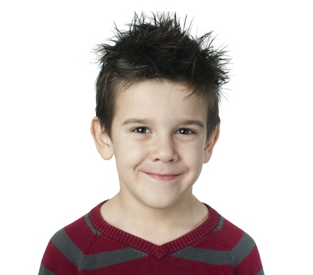 Smiling boy on white background Stock Photo - 16791020
