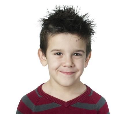 Smiling boy on white background Stock Photo - 16791020