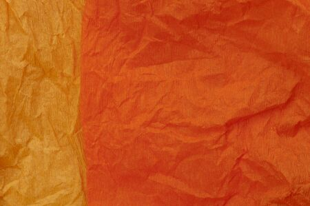 Background of orange old crumpled paper Stock Photo - 17062027