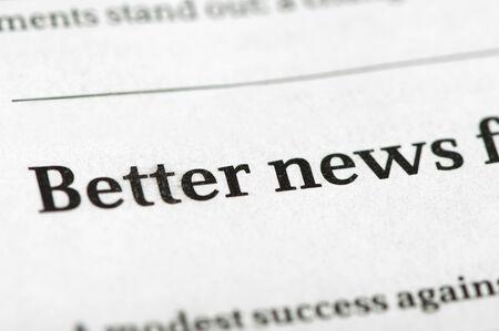 idealism: Word Beter News on newspaper