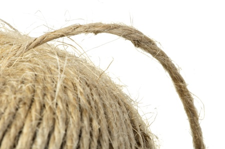 Hemp rope close up background Stock Photo - 17267737