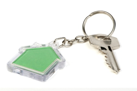 Keychain with figure of green house Stock Photo - 17267603