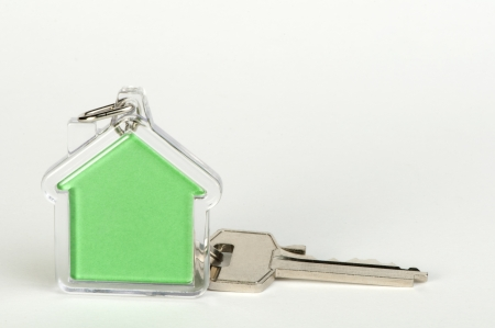 Keychain with figure of green house Stock Photo - 17267716