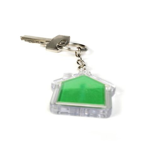 Keychain with figure of green house Stock Photo - 17267536