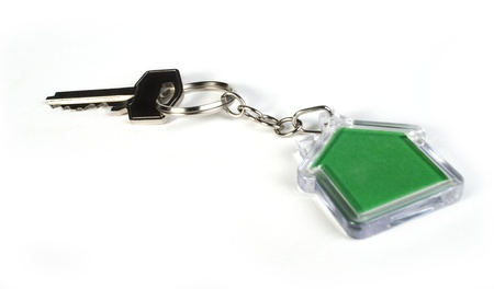 Keychain with figure of green house Stock Photo - 17267576