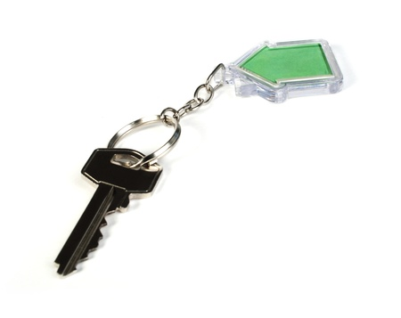 Keychain with figure of green house Stock Photo - 17267538
