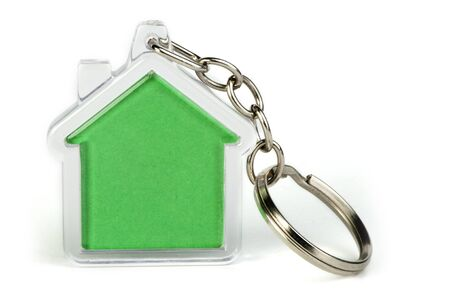 Keychain with figure of green house Stock Photo - 17267671
