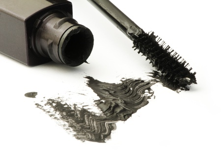 Mascara white isolated. Smudged on paper Stock Photo - 17267687