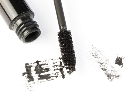 Mascara white isolated. Smudged on paper Stock Photo - 17267624