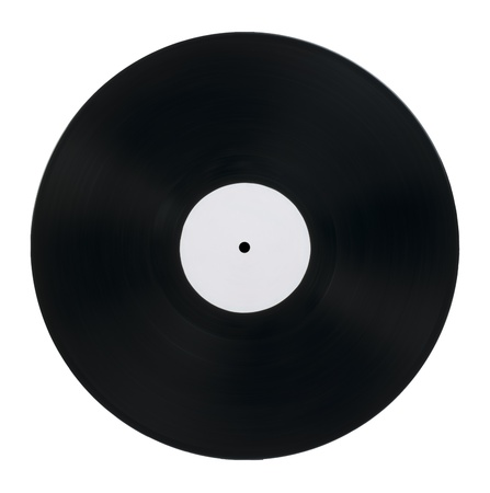 Vinil Record white isolated photo