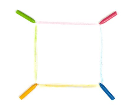 Pastels and painted lines over white paper Stock Photo - 17267533