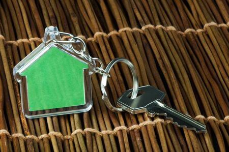 Keychain figure of house and key close up Stock Photo - 17515906