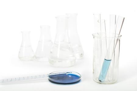 analytical chemistry: Laboratory glassware equipment. Laboratory beakers and tubes
