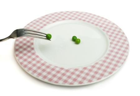 parameter: Plate with peas close up. Studio shot