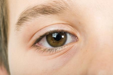close up eye: Human eye close up studio shot. Child eye. Stock Photo