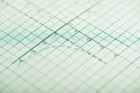 Mathematical drawings, concepts and strategies. Arrows and lines photo