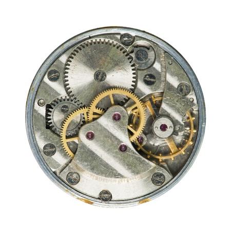 Mechanical clockwork close up photo