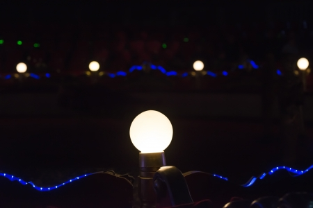 Lights in a circus. Darkness photo