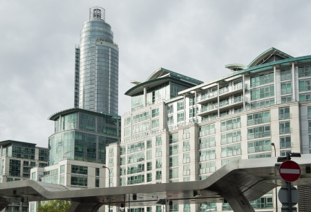 Modern residential buildings in the city. London