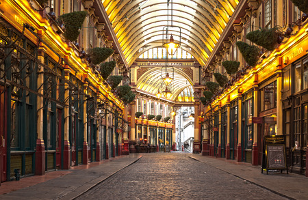 London Leadenhall market. No people