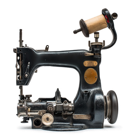 M�quina de coser de la vendimia blanco aislado photo