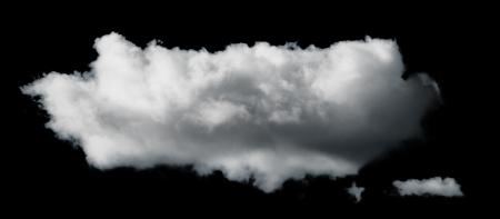 Black isolated set of clouds Standard-Bild